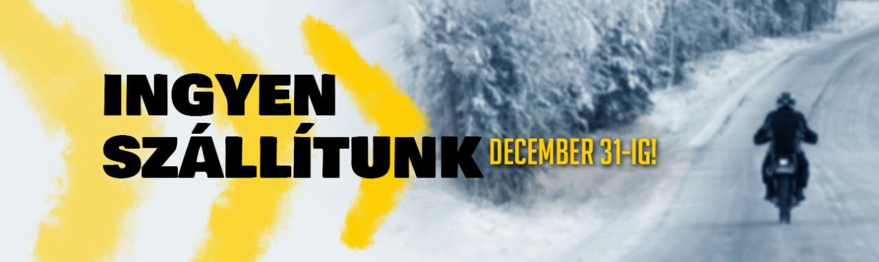 December 31.-ig minden motorgumit ingyen szállítunk!