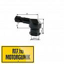 25MS 11,3 mm-es aluházas szerelhetö szelep (fekete)