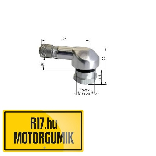 25MS 11,3 mm-es aluházas szerelhető szelep (króm)